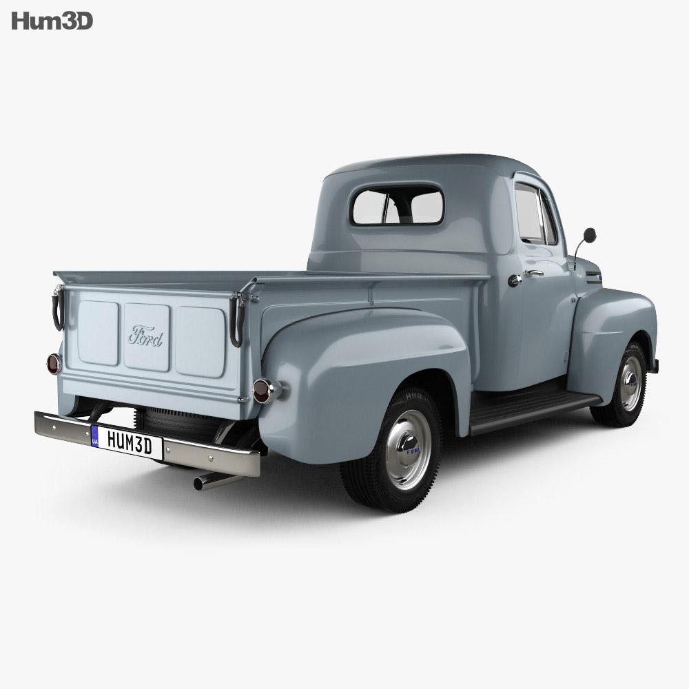 Ford F-1 Pickup 1948 3d model