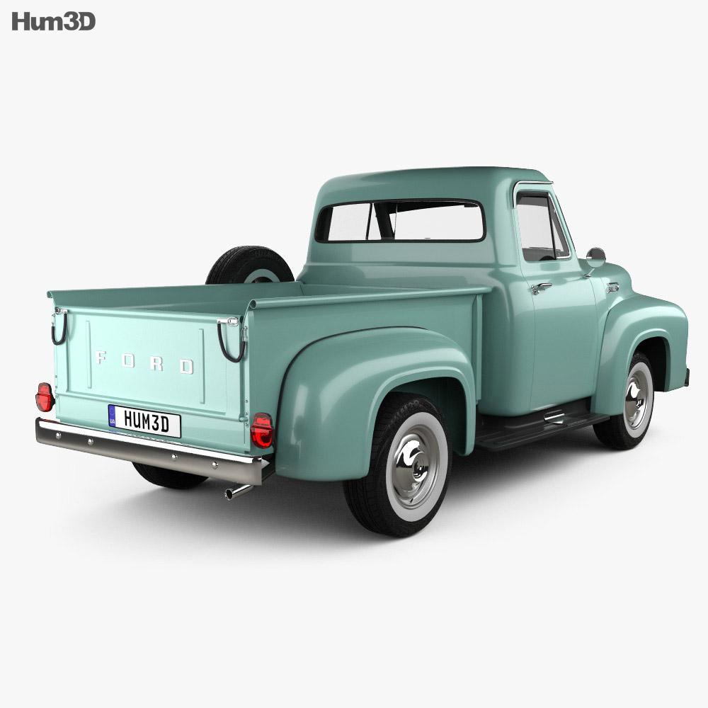 Ford F-100 Pickup 1954 3d model