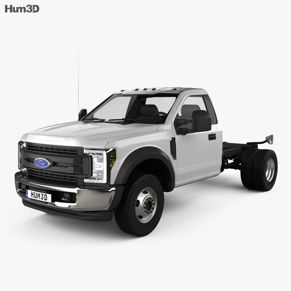 Ford F-550 Super Duty Regular Cab Chassis 2019 3d model