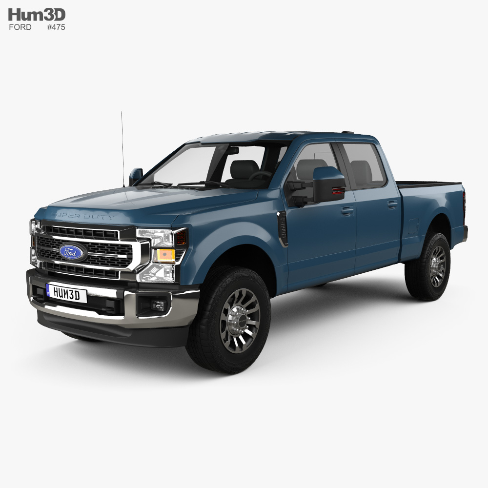 Ford F-250 Super Duty Crew Cab Short Bed Lariat 2020 3d model