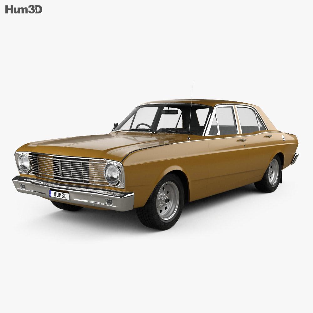 ford falcon 1968 3d model humster3d. Black Bedroom Furniture Sets. Home Design Ideas