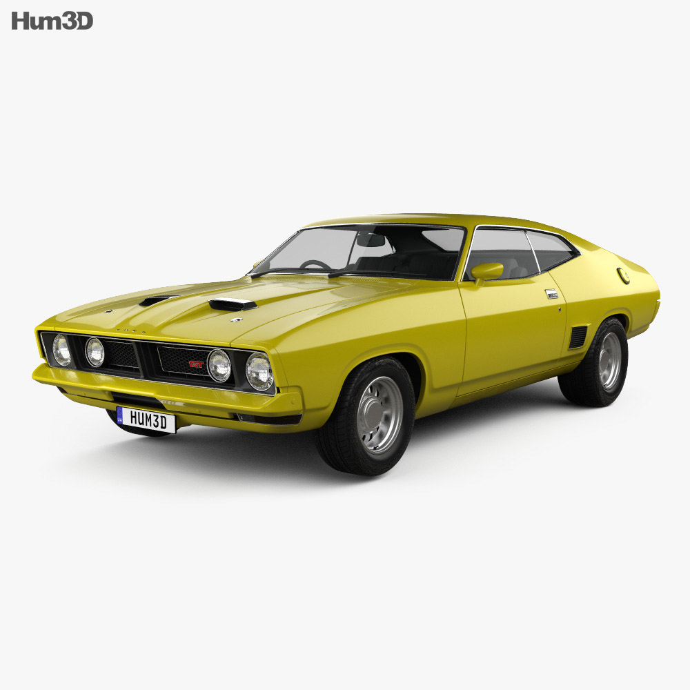Ford Falcon GT Coupe 1973 3d model