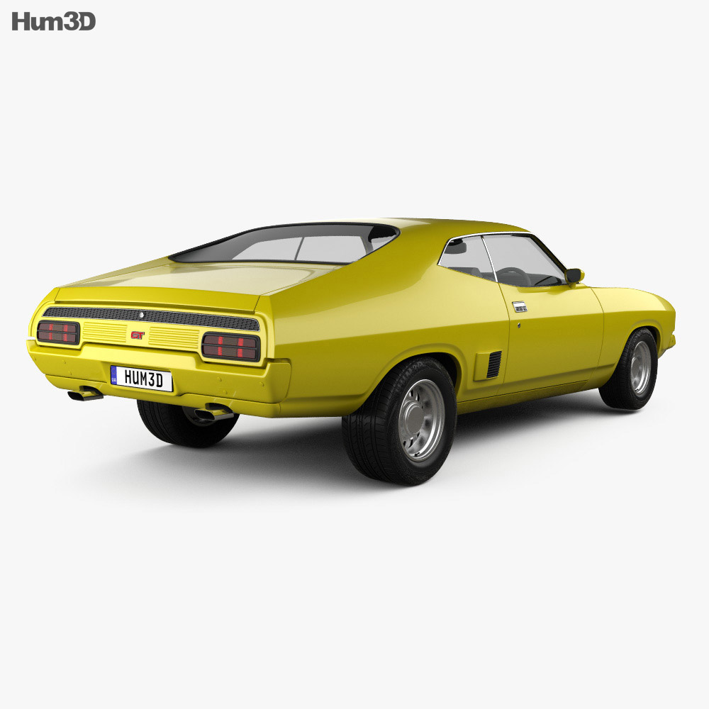 ford falcon gt coupe 1973 3d model humster3d. Black Bedroom Furniture Sets. Home Design Ideas