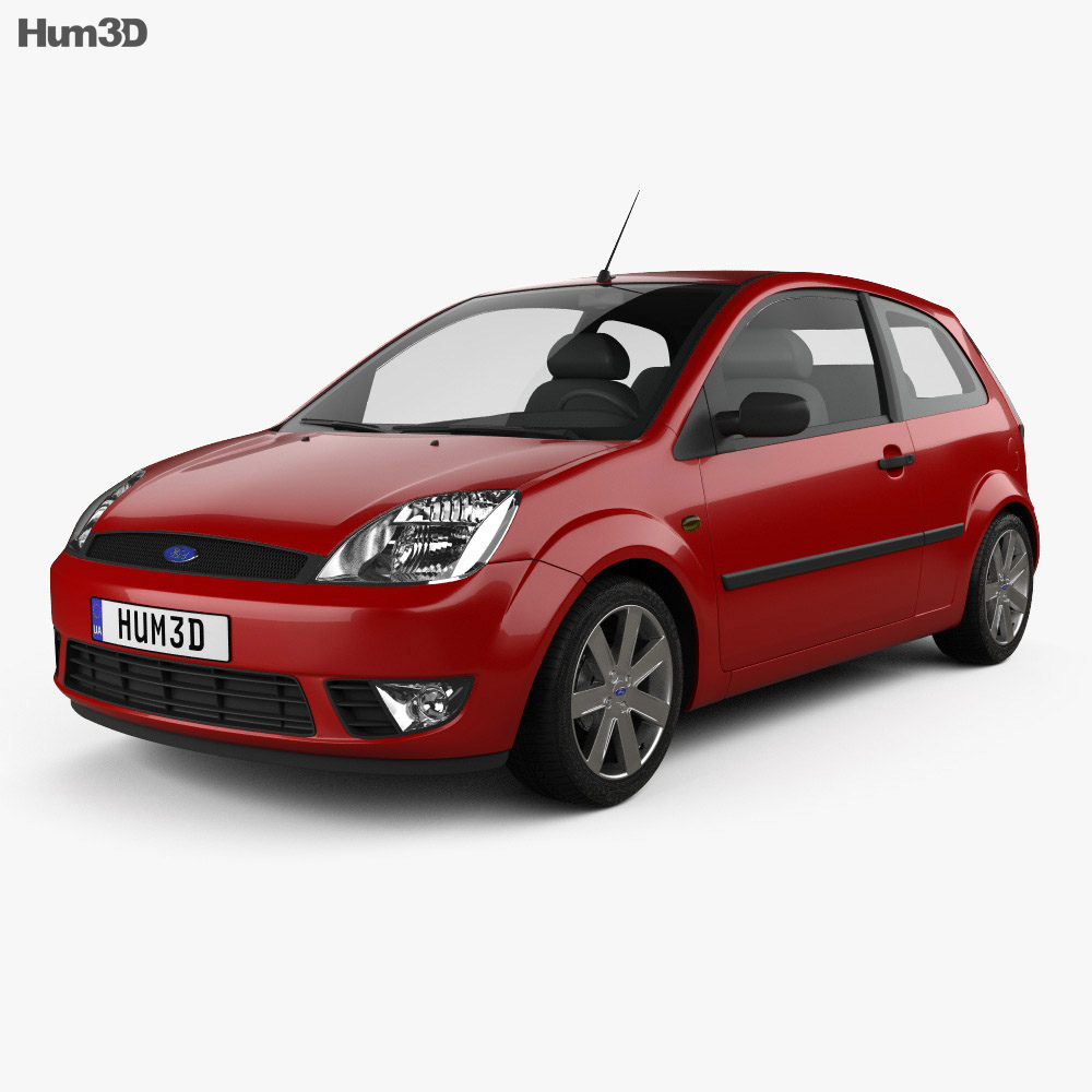Ford Fiesta hatchback 3-door 2002 3d model