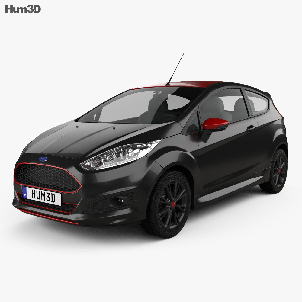 Ford Fiesta Zetec S Black Edition 2014 3d model