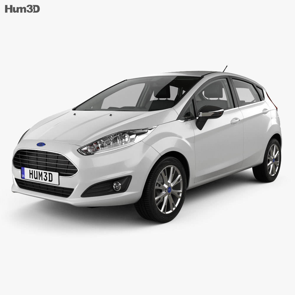 Ford Fiesta 5-door with HQ interior 2013 3d model