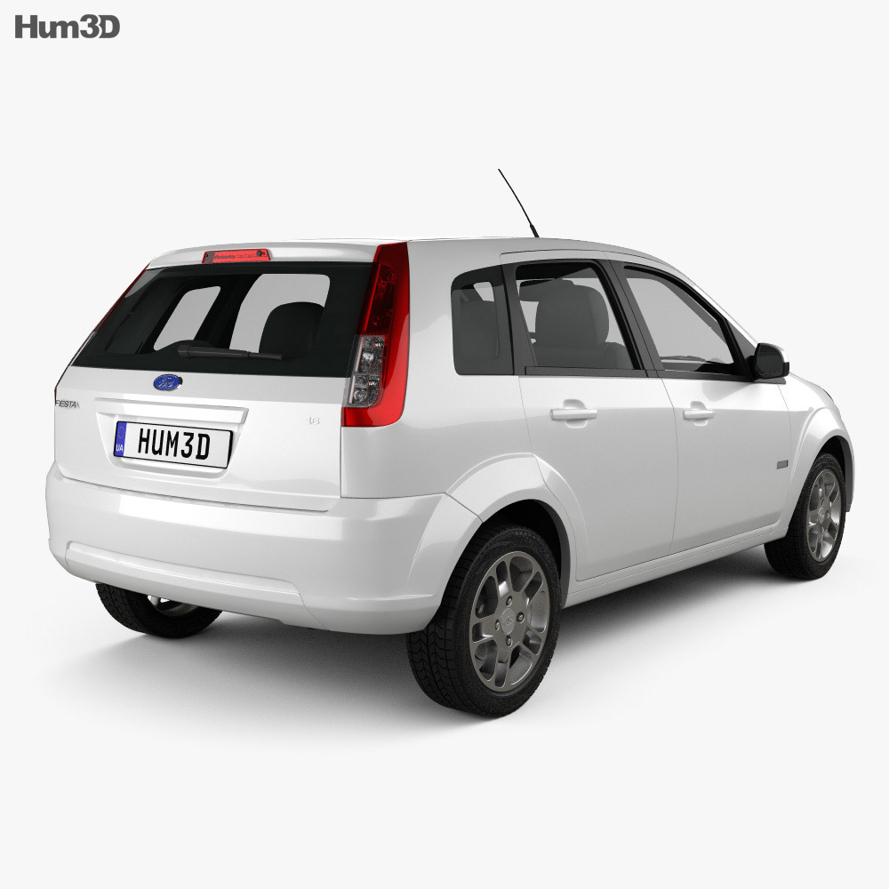 Ford Fiesta Rocam hatchback (Brazil) 2012 3d model
