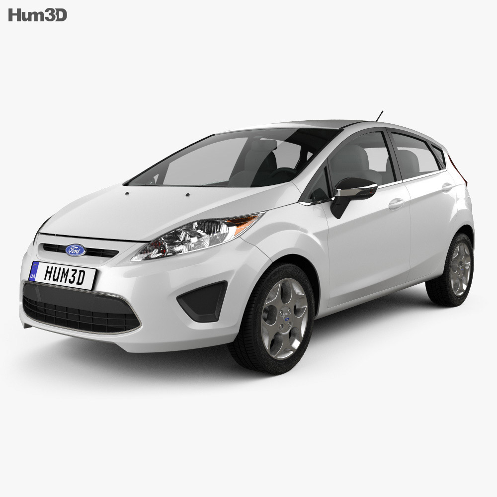 Ford Fiesta Hatchback 5-door (US) 2012 3d model
