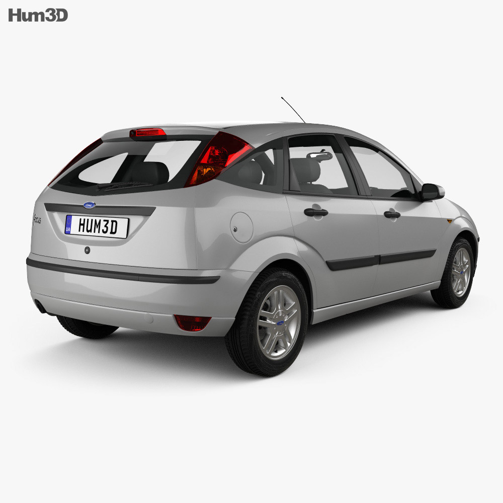 Ford Focus 5-door hatchback 2002 3d model