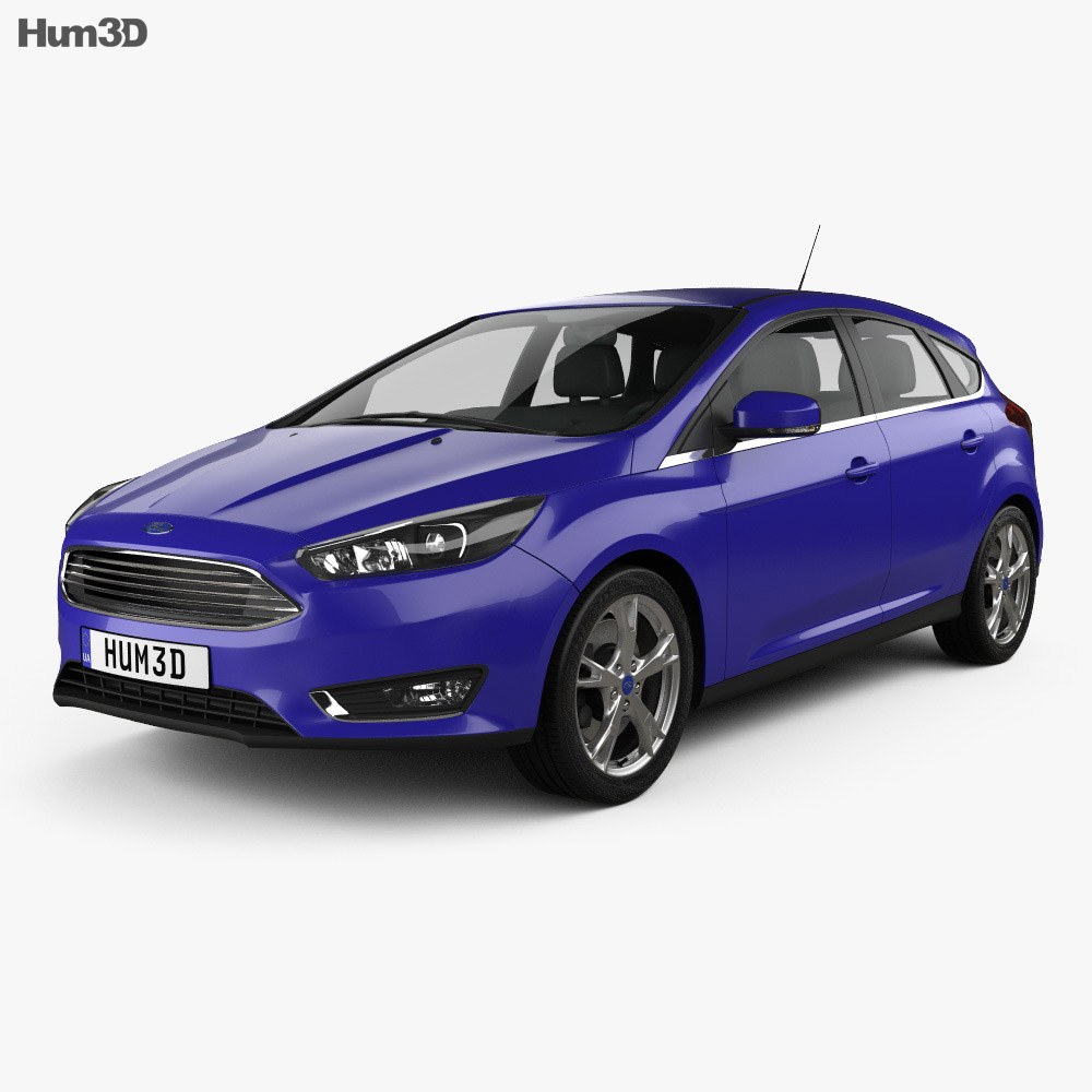 Ford Focus hatchback 2014 3d model