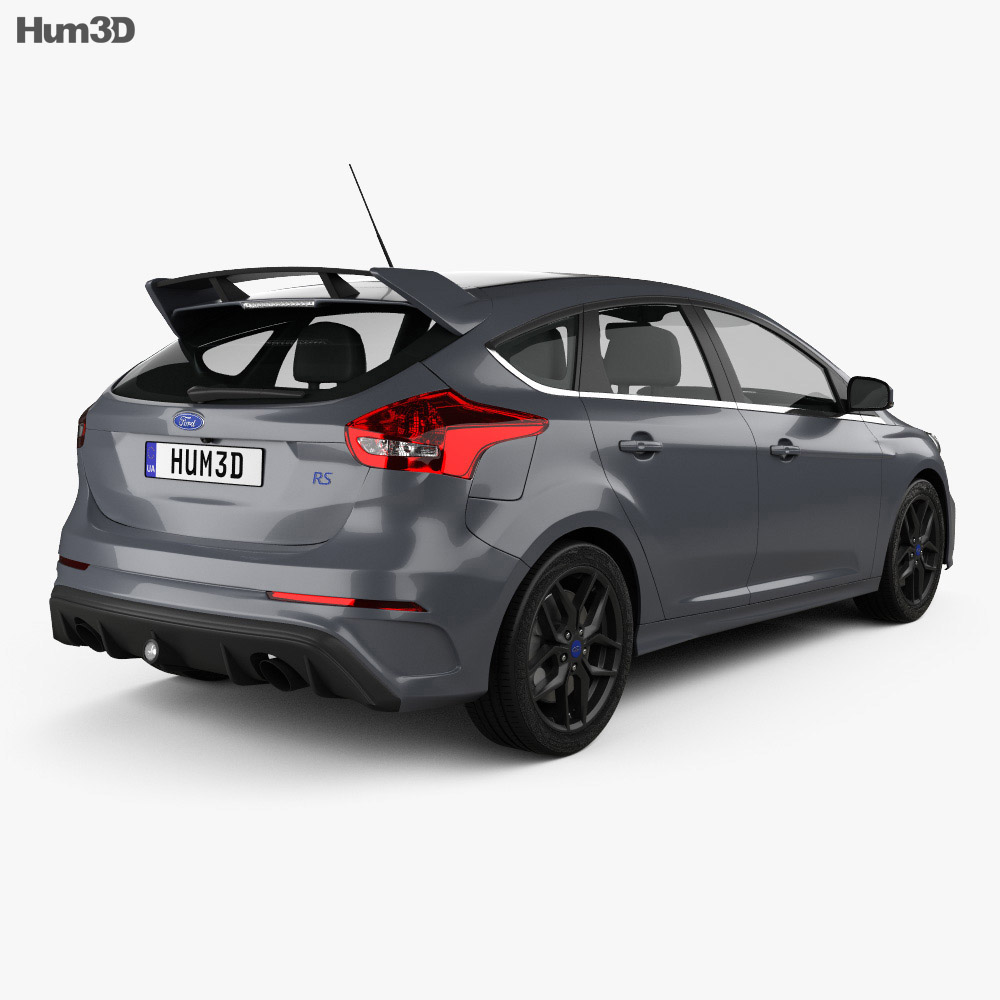 ford focus hatchback rs 2014 3d model humster3d. Black Bedroom Furniture Sets. Home Design Ideas