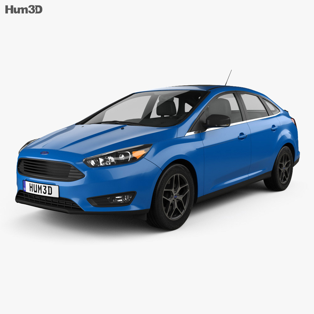Ford Focus sedan 2014 3d model