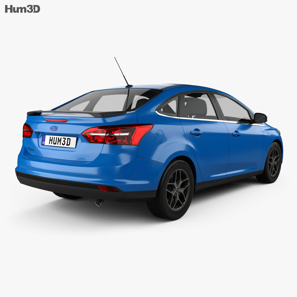 ford focus sedan 2014 3d model vehicles on hum3d. Black Bedroom Furniture Sets. Home Design Ideas