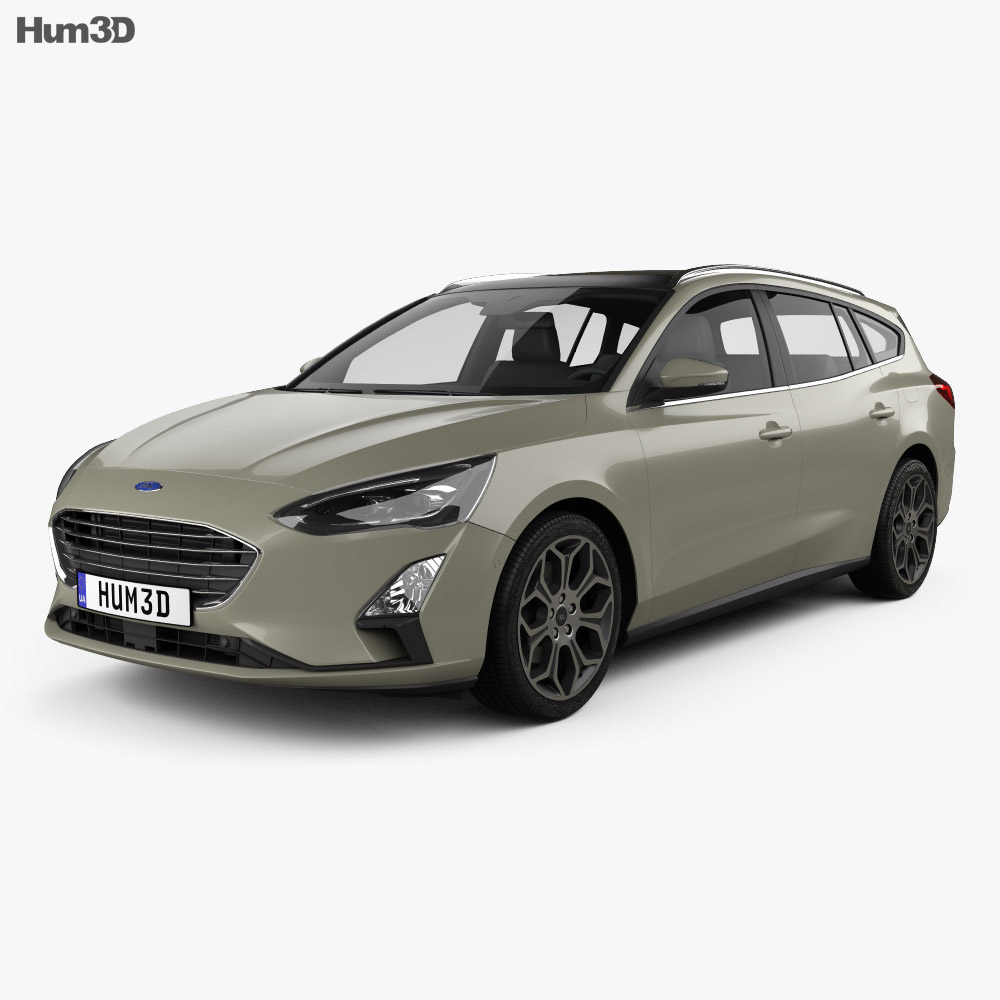 ford focus titanium turnier 2018 3d model vehicles on hum3d. Black Bedroom Furniture Sets. Home Design Ideas