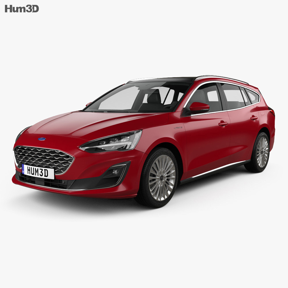 Ford Focus Vignale turnier 2018 3d model