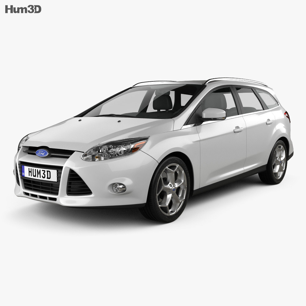 Ford Focus Wagon 2012 3d model