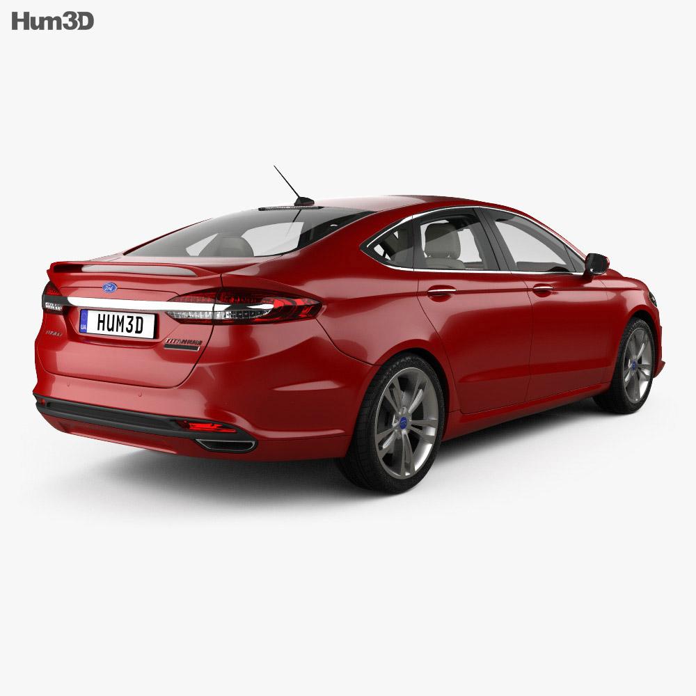 Ford Fusion Titanium with HQ interior 2017 3d model