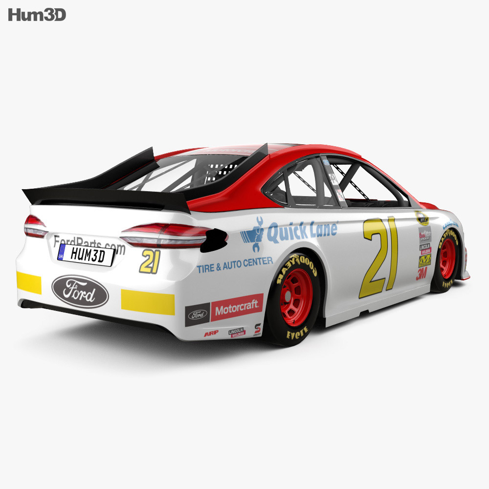 Ford Fusion NASCAR 2017 3d model
