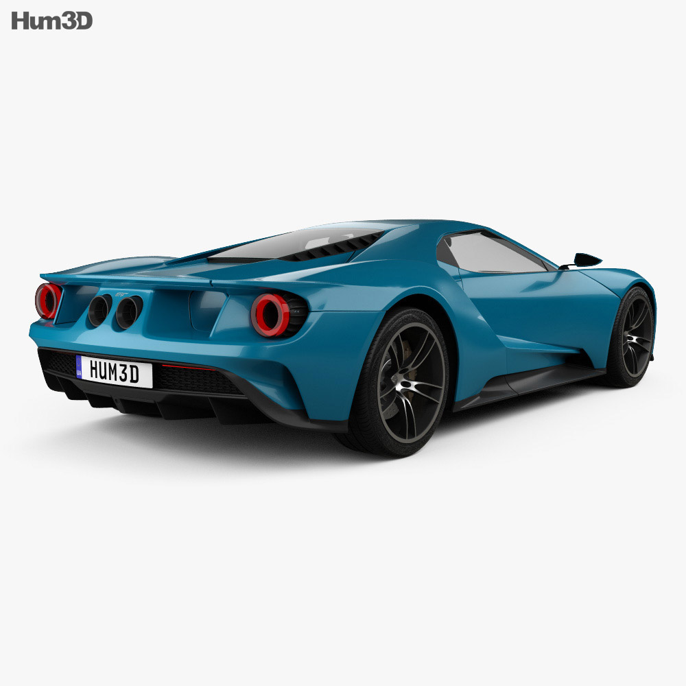 Ford GT concept 2017 3d model