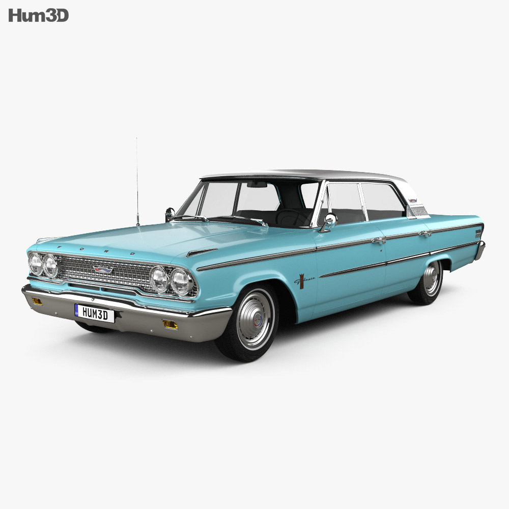 Ford Galaxie 500 hardtop 1963 3d model