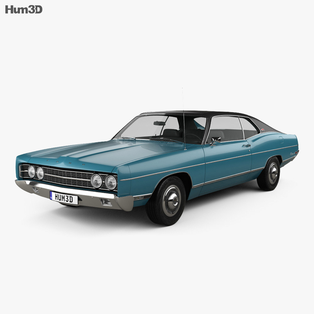 Ford Galaxie 500 fastback 1969 3d model
