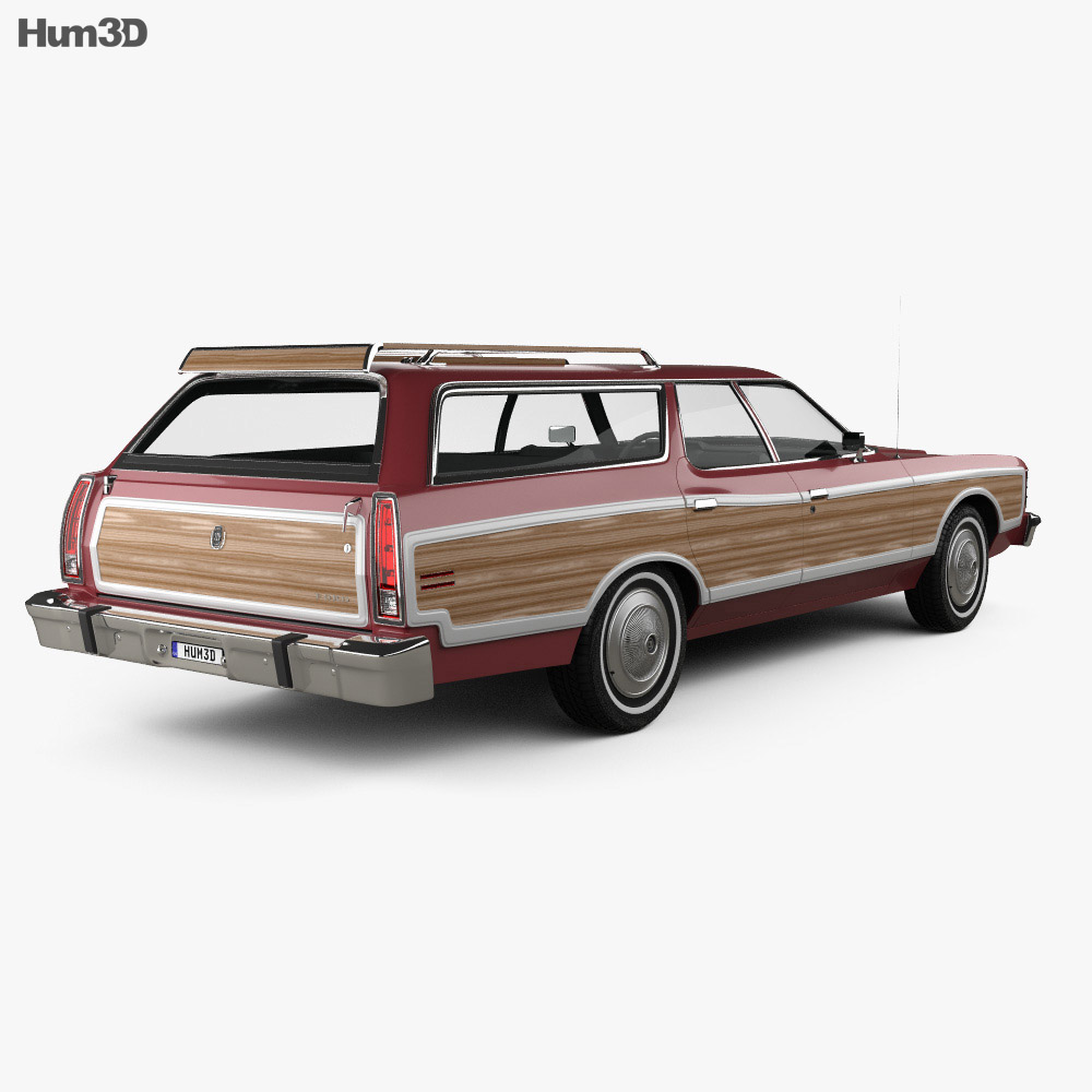 Ford Galaxie station wagon 1973 3d model