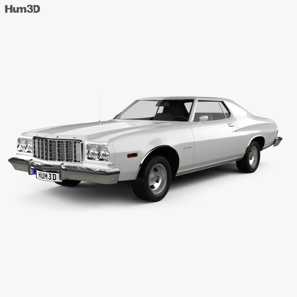 Ford Gran Torino hardtop 1974 3D模型