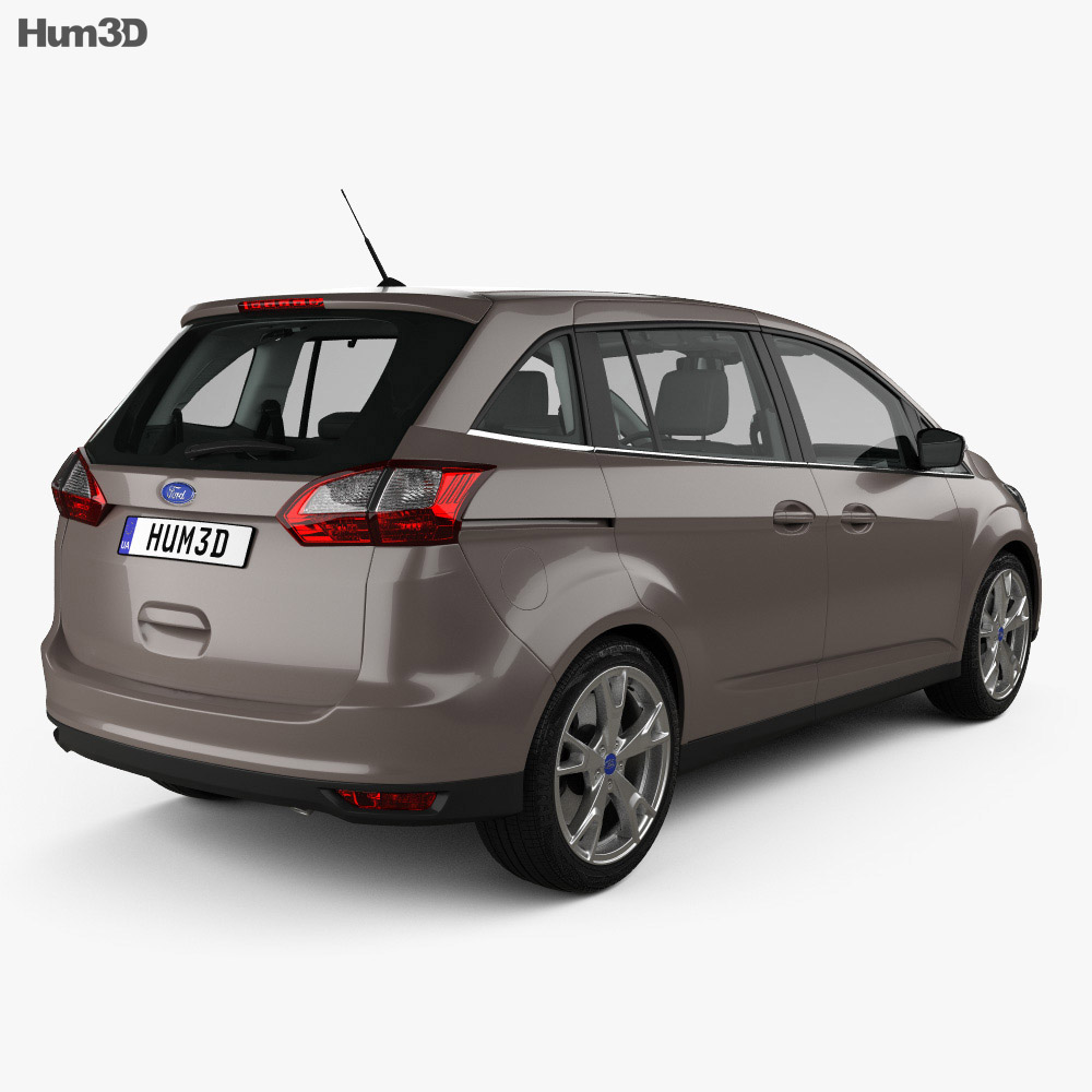 Ford Grand C-max with HQ interior 2015 3d model