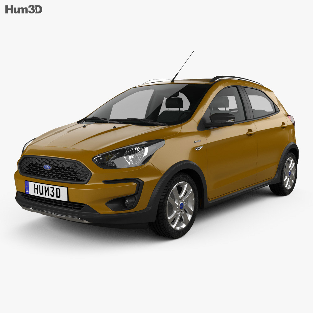 Ford Ka plus Active Freestyle hatchback 2019 3d model