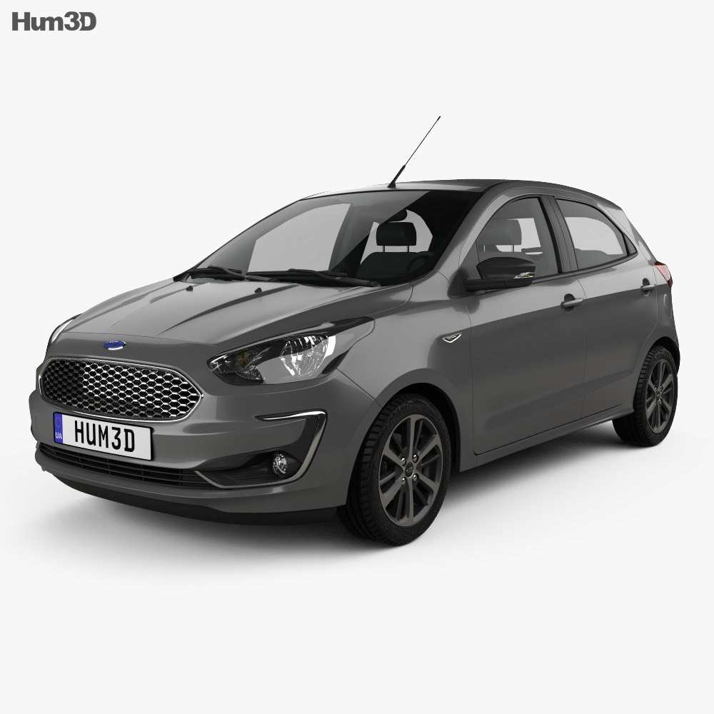 ford ka plus ultimate hatchback 2019 3d model hum3d. Black Bedroom Furniture Sets. Home Design Ideas