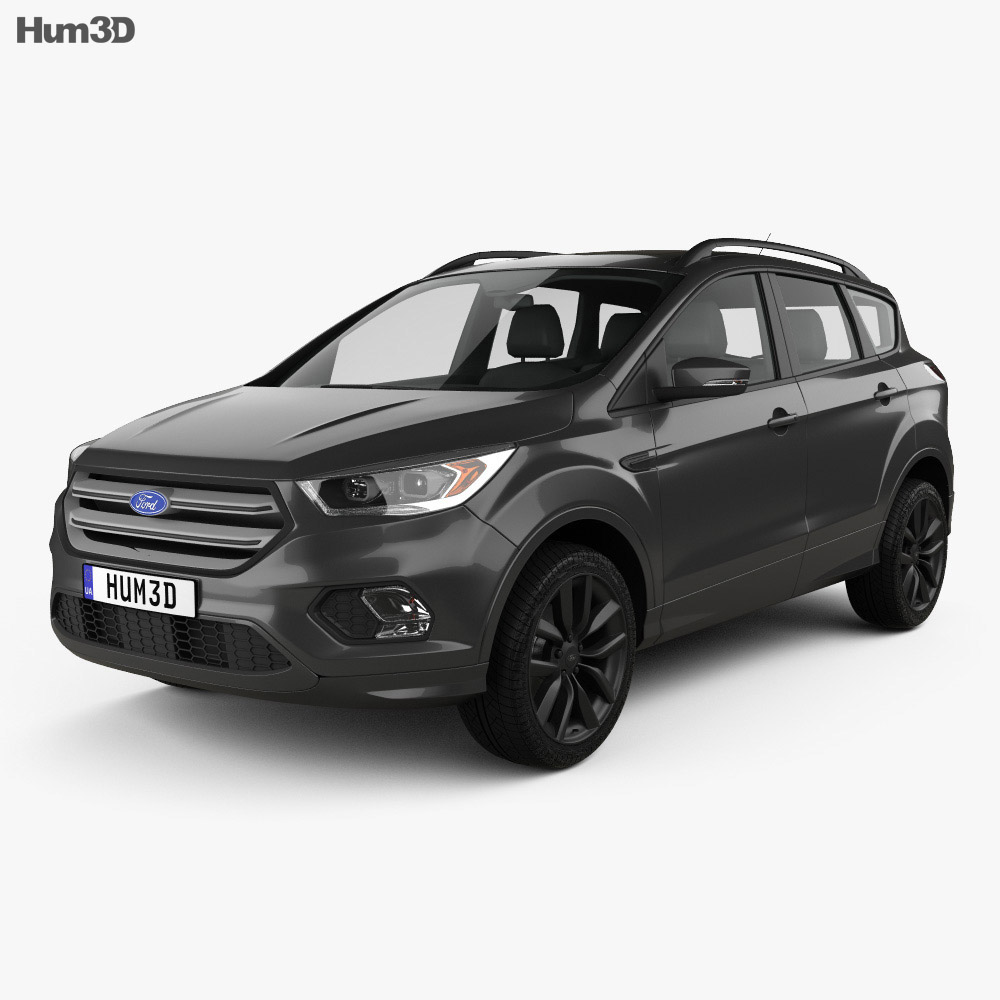 ford kuga 2016 3d model hum3d. Black Bedroom Furniture Sets. Home Design Ideas