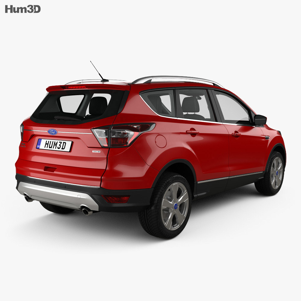 ford kuga titanium with hq interior 2017 3d model vehicles on hum3d. Black Bedroom Furniture Sets. Home Design Ideas