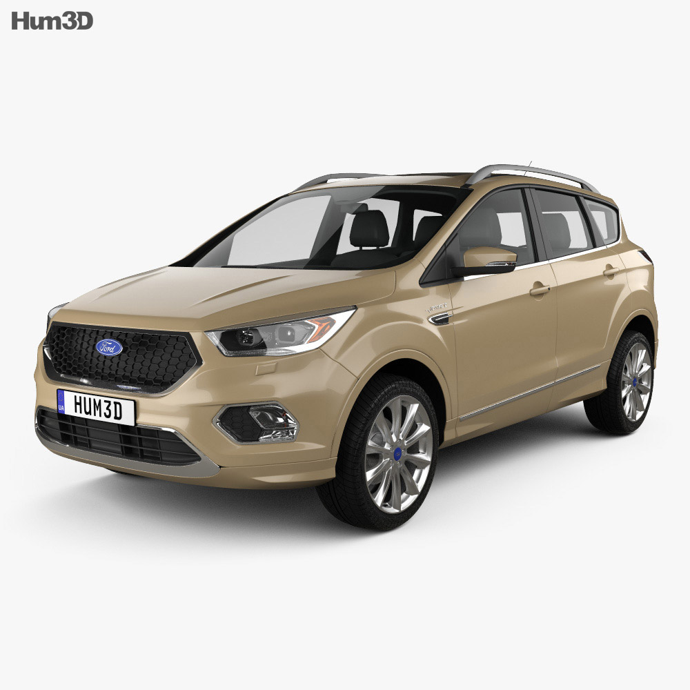 New Ford Vehicles For 2016: Ford Kuga Vignale 2016 3D Model