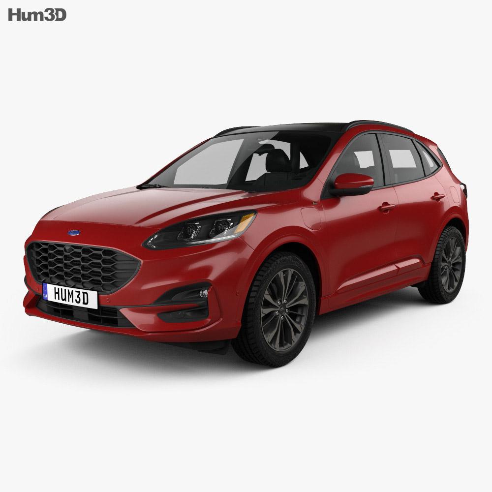 ford kuga hybrid st line 2020 3d model vehicles on hum3d. Black Bedroom Furniture Sets. Home Design Ideas