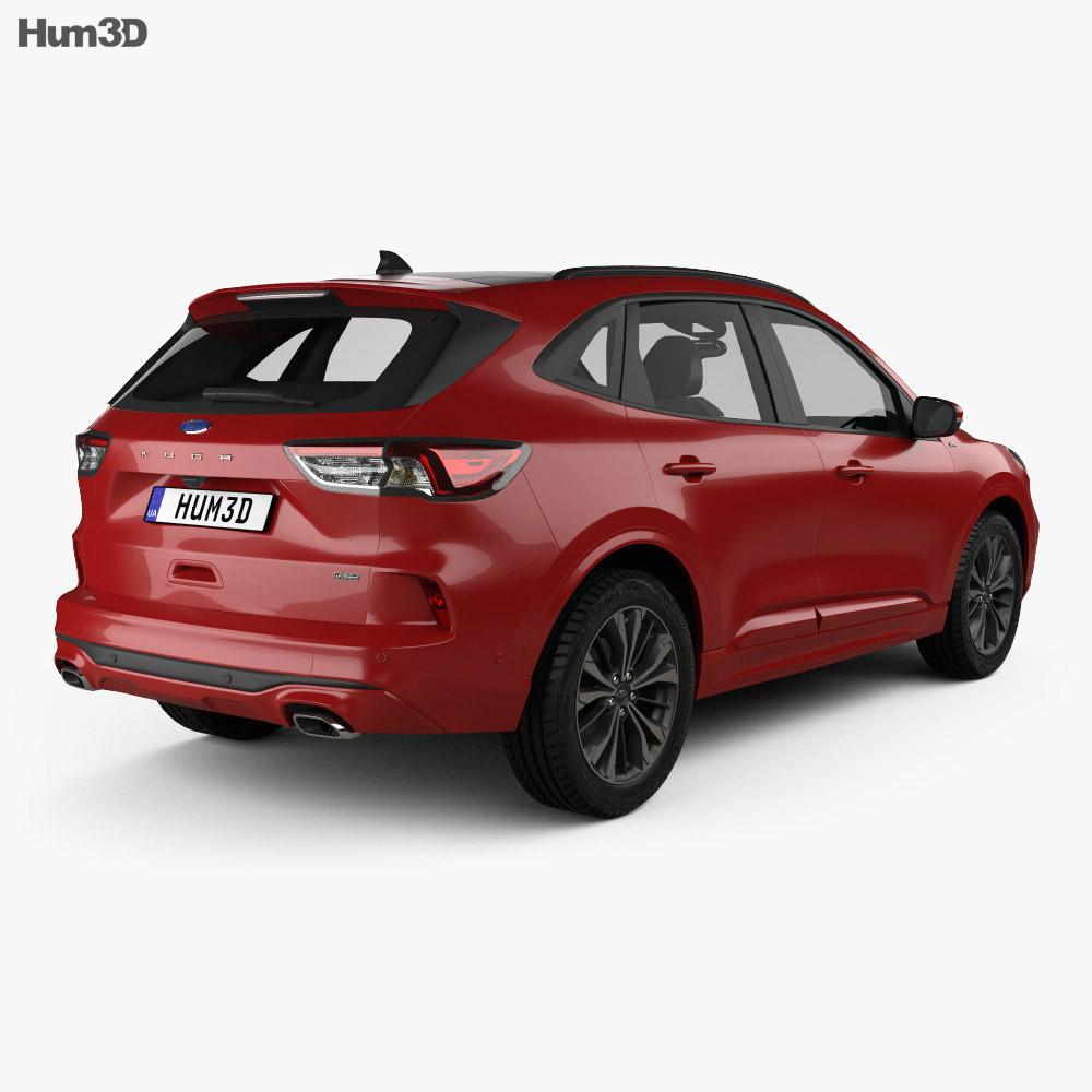 Ford Kuga Hybrid ST-Line 2020 3d model