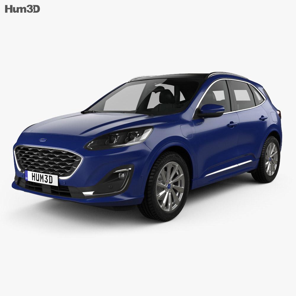 Ford Kuga Vignale >> Ford Kuga Hybrid Vignale 2020 3d Model
