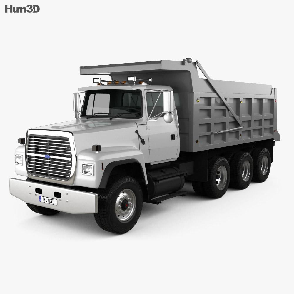 Ford Truck Axles : Ford l dump truck axle d model hum