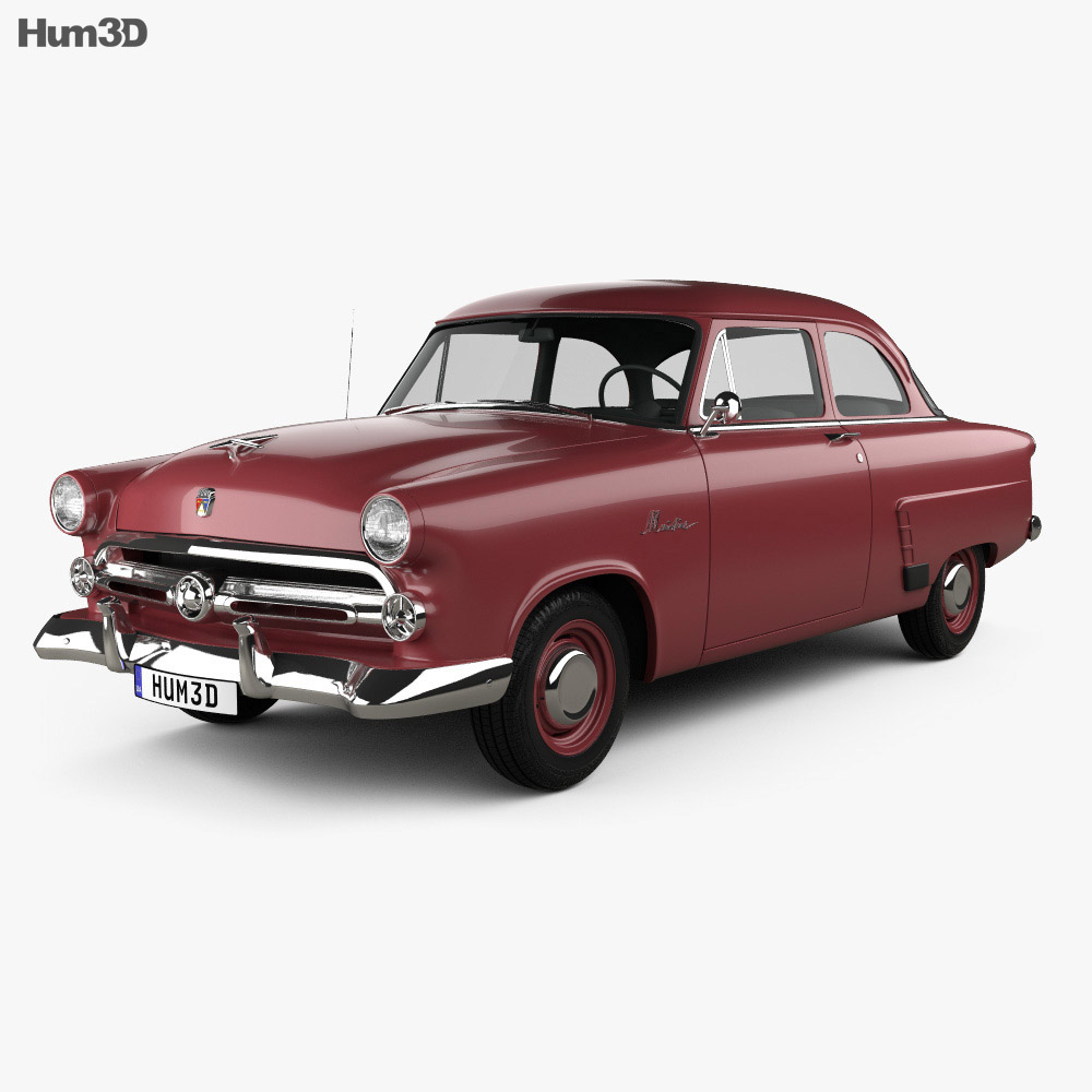Ford Mainline (70A) Tudor Sedan 1952 3d model
