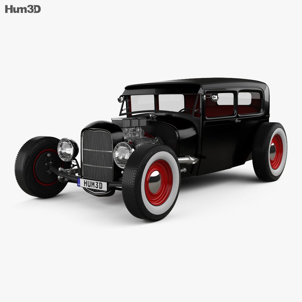 ford model a hot rod 2016 3d model hum3d. Black Bedroom Furniture Sets. Home Design Ideas