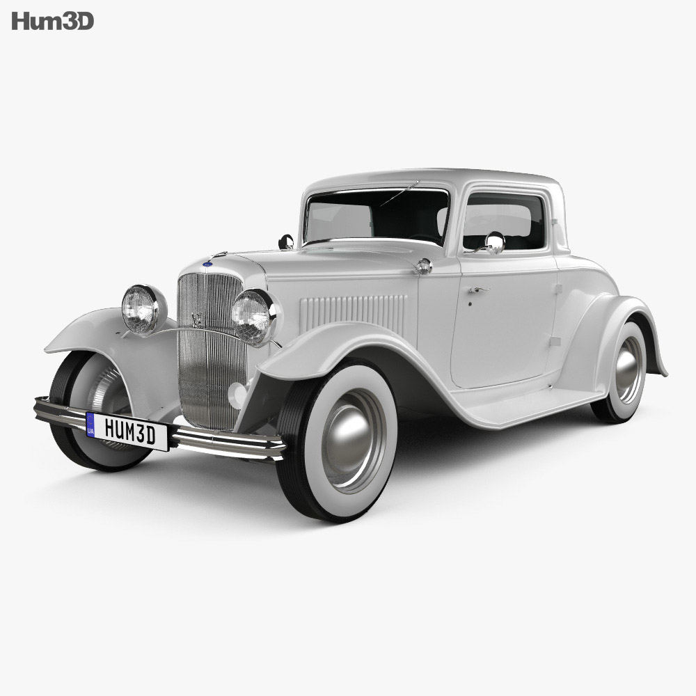 Ford Model B De Luxe Coupe V8 1932 3d model