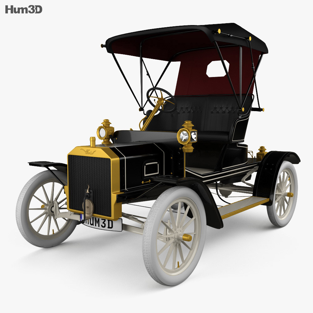Ford Model N Runabout 1906 3d model