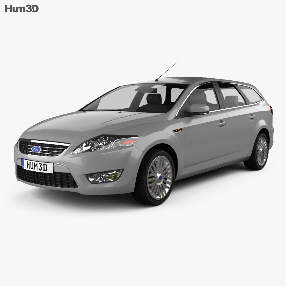 ford mondeo turnier 2007 3d model humster3d. Black Bedroom Furniture Sets. Home Design Ideas