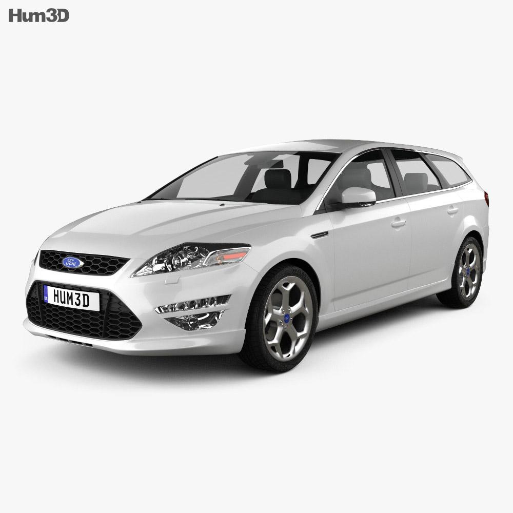 Ford Mondeo Turnier Titanium X Mk4 2012 3d model