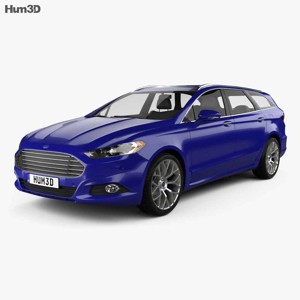 ford mondeo wagon 2013 3d model vehicles on hum3d. Black Bedroom Furniture Sets. Home Design Ideas