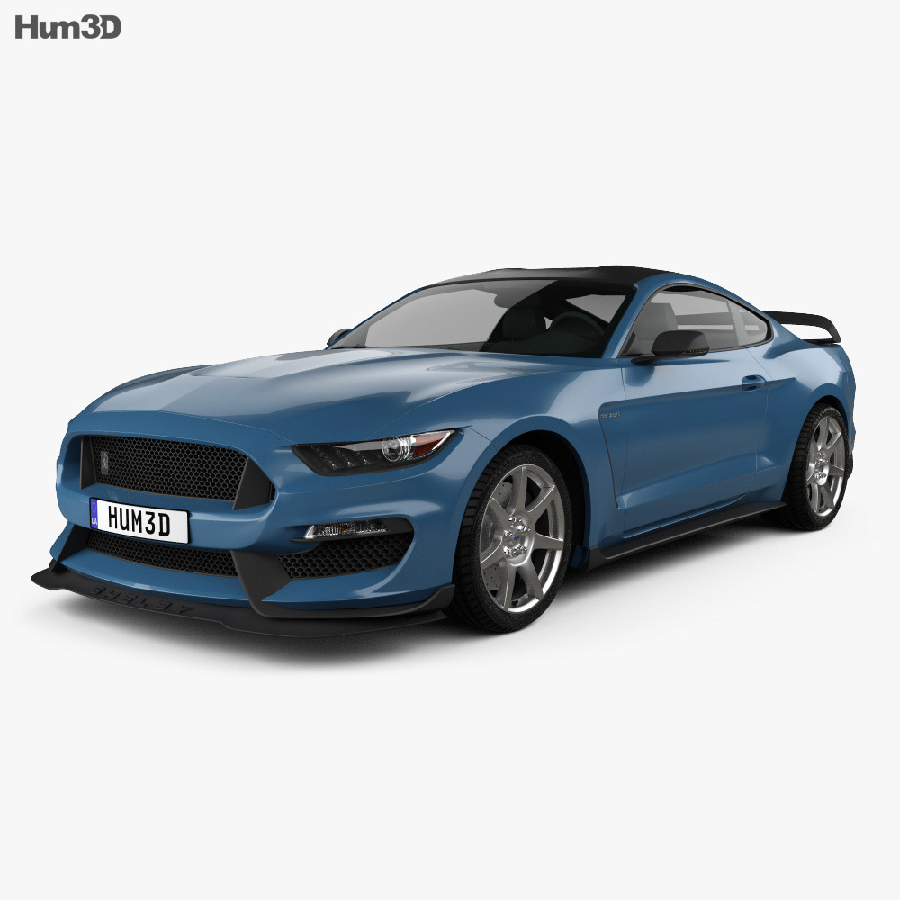 ford mustang mk6 shelby gt350r 2015 3d model humster3d. Black Bedroom Furniture Sets. Home Design Ideas