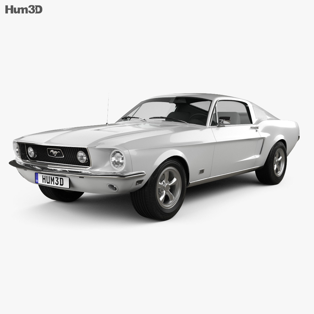 Ford mustang gt 1967 3d model