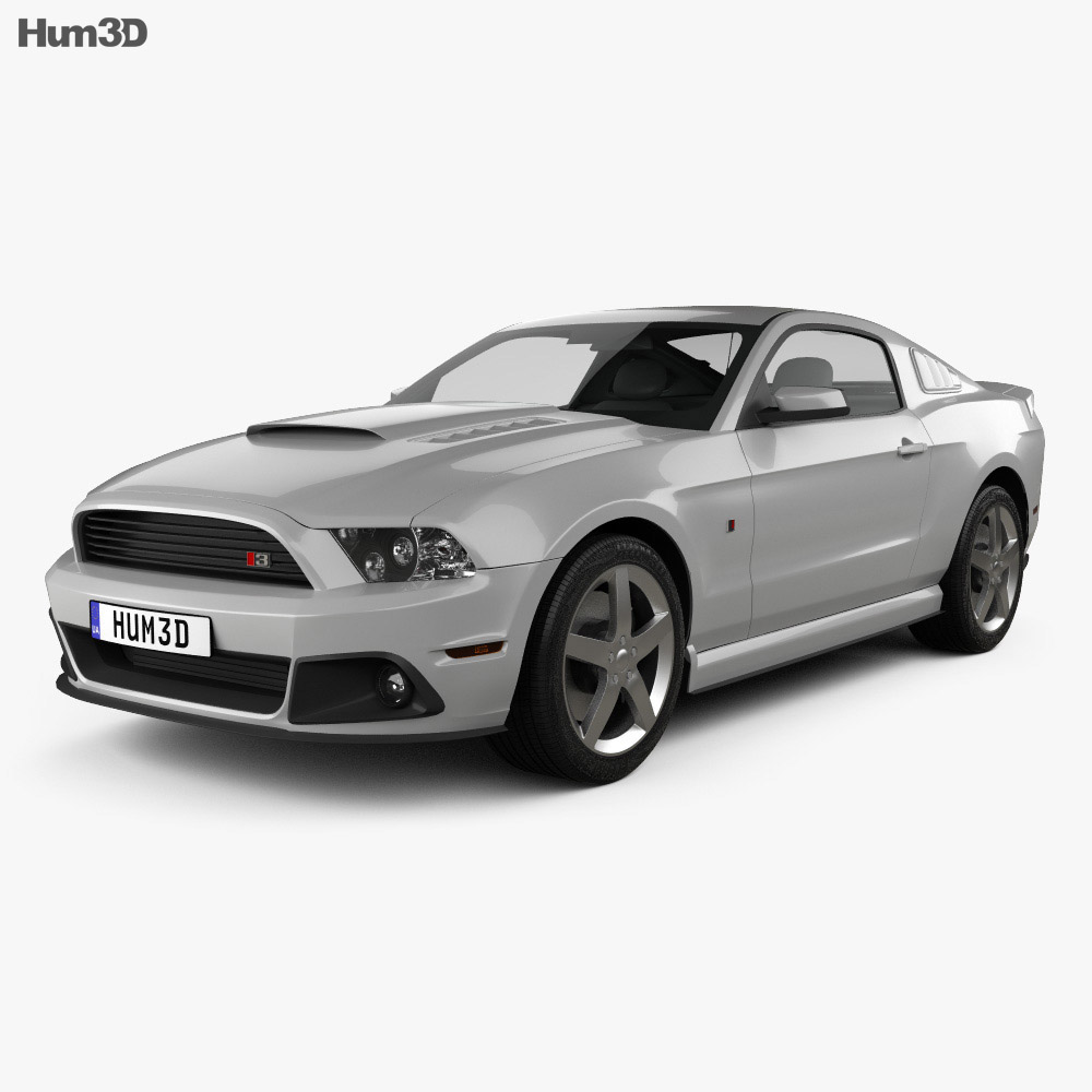 ford mustang roush stage 3 2013 3d model humster3d. Black Bedroom Furniture Sets. Home Design Ideas