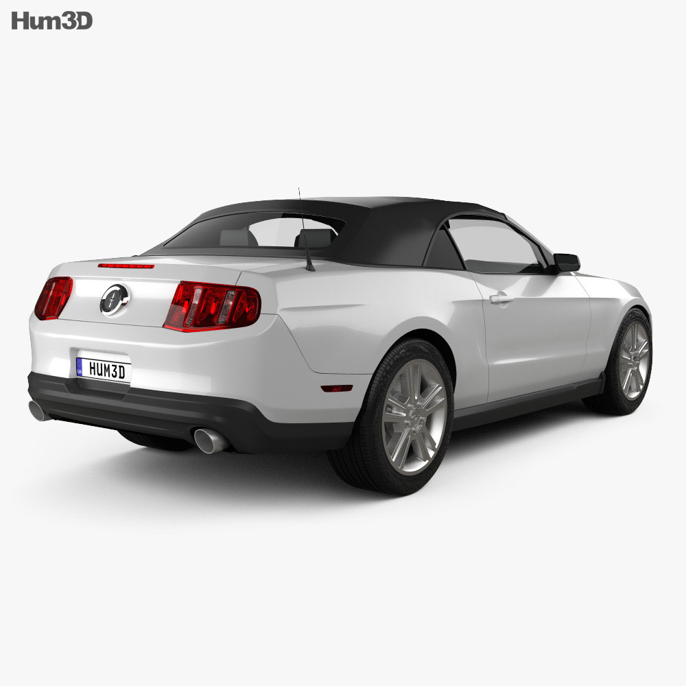 Ford Mustang V6 Convertible 2010 3d model