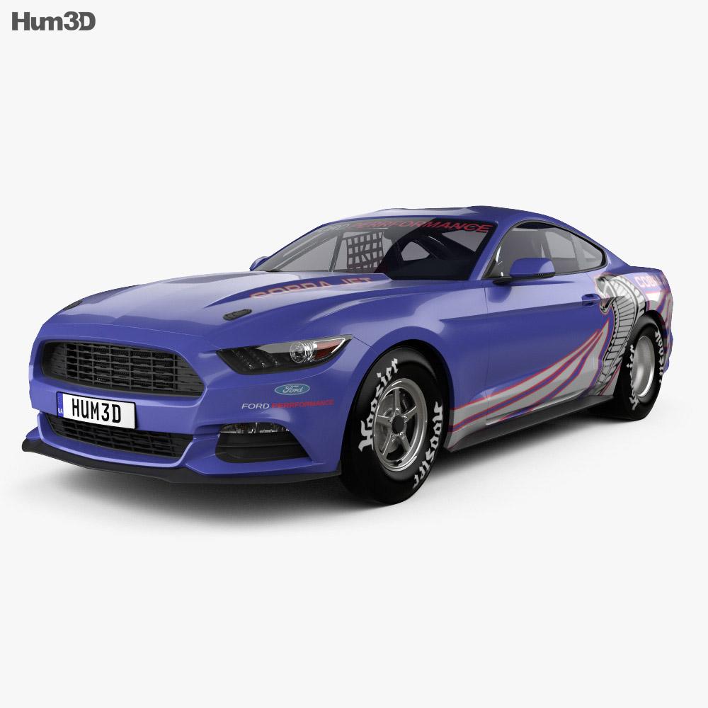 Ford mustang cobra jet 2016 3d model humster3d - Mustang cobra ...