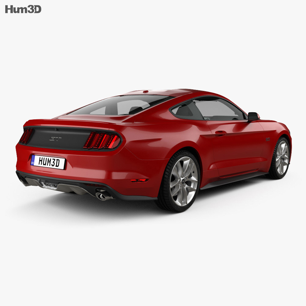 Ford Mustang Gt With Hq Interior 2015 3d Model Vehicles On Hum3d